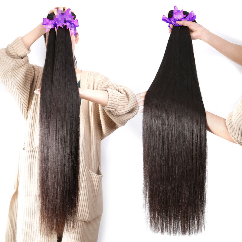40 Inch Silky Straight Indian Natural Hair Extensions For Black Women